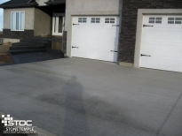 standard finished concrete driveway