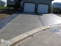 straight broomed driveway
