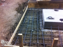 concrete preparation with rebar