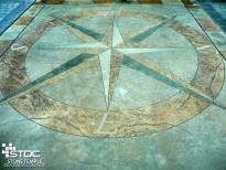acid etched concrete patterns