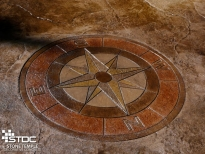 stamped colored concrete floor