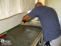 constructing concrete counter