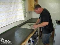 forming concrete countertop
