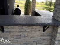 custom outdoor bar countertop