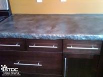 durable custom poured concrete countertop