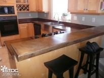 kitchen concrete flat top