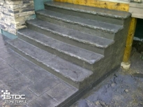 cast formed staircase front door