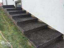 custom built concrete stairs