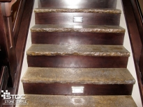 indoor steps made from concrete