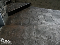 stamped concrete stairs