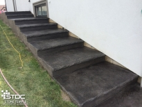 custom built concrete stairs