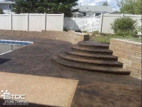 pool deck concrete stamped