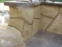 detailed concrete carving