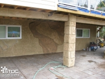 vertical concrete wall install
