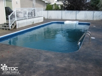 coloured concrete pool deck