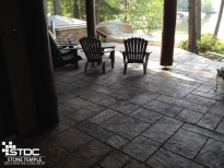 stamped conrete patio