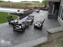 beautiful concrete backyard