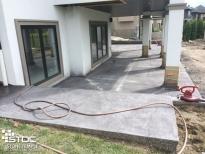 concrete courtyard