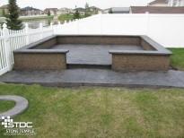 concrete patio area