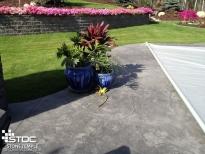 concrete patio deck