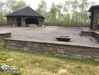 custom cement patio