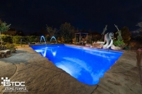 gorgeous pool with stamped concrete