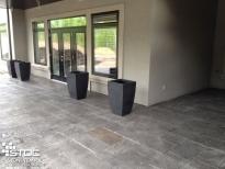 stamped cement floor