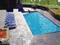 stamped cement pool sundeck