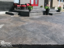 stamped concrete outdoor living space