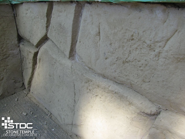 Hand Carved or Stamped Vertical Concrete