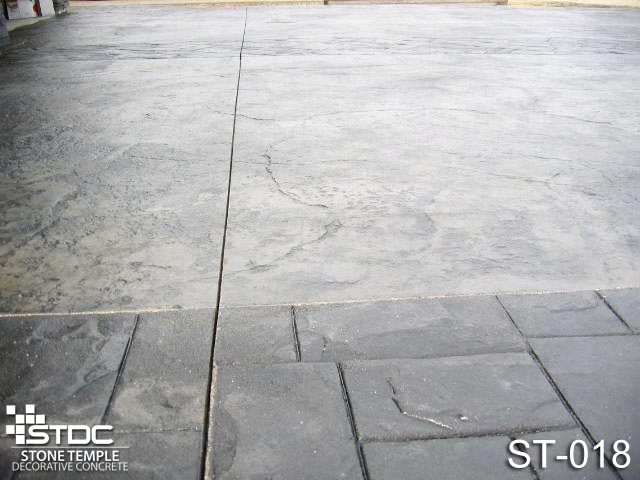 Professionally Stamped Decorative Concrete