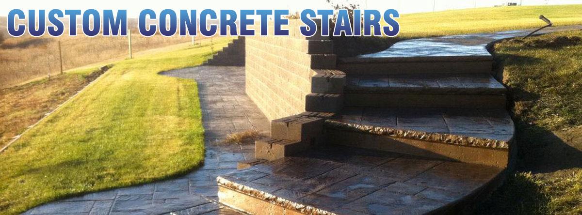 custom concrete stairs sidewalks warman