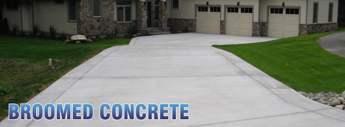 standard broomed concrete flatwork
